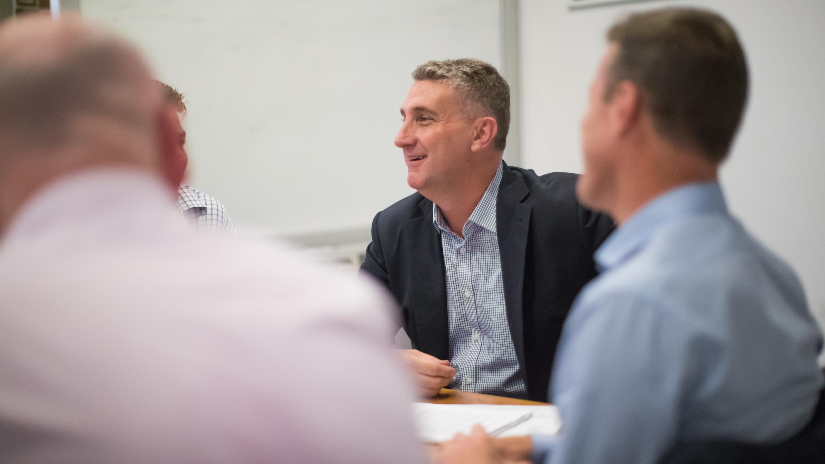 craig west in board meeting